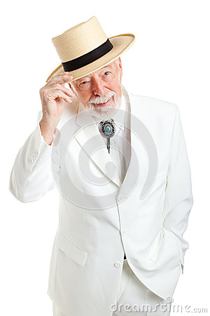 Senior Southern Gentleman Tips Hat Stock Images Image