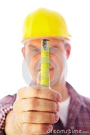 Handsome skilful builder