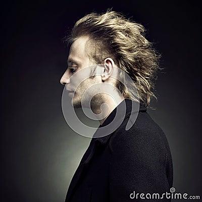 Handsome stylish blond man