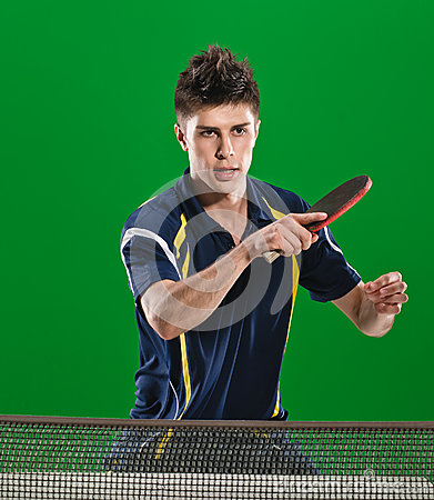 Free Handsome Table Tennis Player Stock Images - 89236284