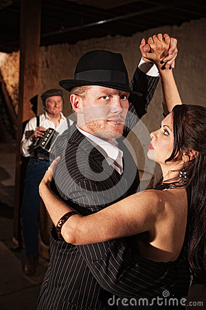 Handsome Tango Dancer with Partner