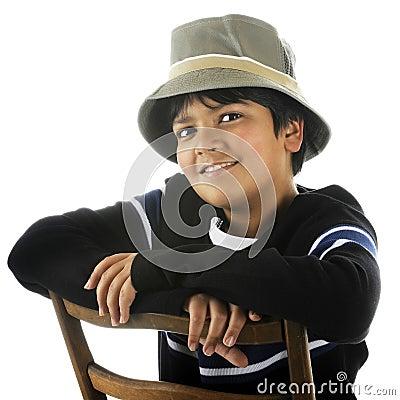Handsome Tween in a Bucket Hat