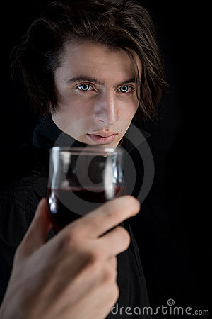 Free Handsome Vampire With Pale Skin And Blue Eyes Stock Photos - 10846333