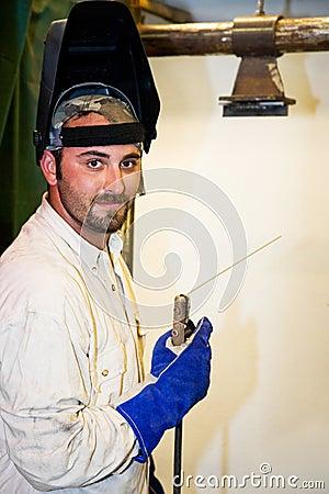 Free Handsome Welder Stock Photography - 6189332