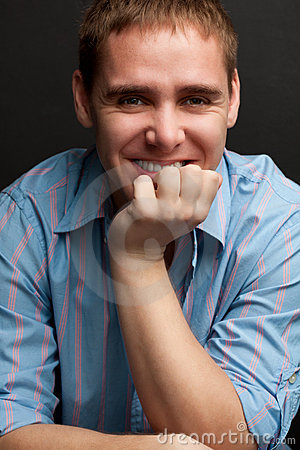 Handsome young adult man portrait
