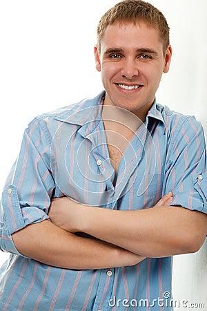 Handsome young adult man portrait