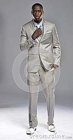 Black man in a suit