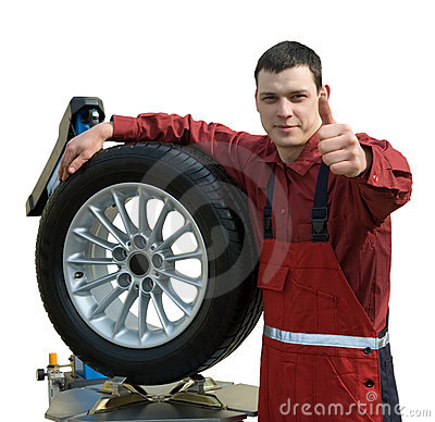 Handsome  young car mechanic