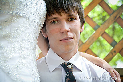 Handsome young groom  portrait