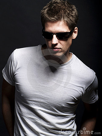 Free Handsome Young Male Model With Sunglasses Royalty Free Stock Photos - 12393008