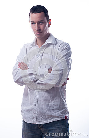 Handsome young man with crossed arms