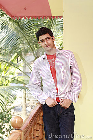 Handsome Young Man Dressed Up in Casual Dress