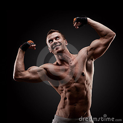 Handsome young muscular sports man