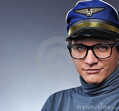 Handsome young pilot