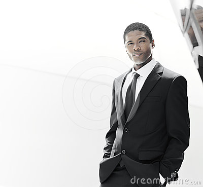 Handsome young success