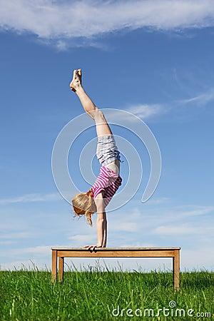 handstand stock photo  image 42411184