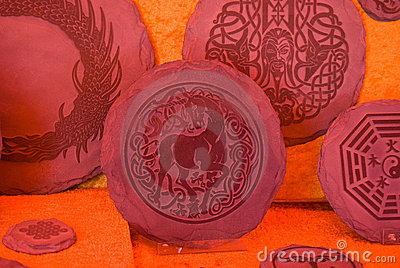 Handwork stone plates