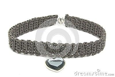 Handworked crocheted collar