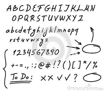 Number Names Worksheets handwriting numbers : Handwriting Alphabet Stock Vector - Image: 57339791
