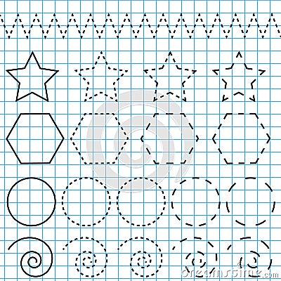 Handwriting Practice Sheet. Educational Children Game. Printable ...