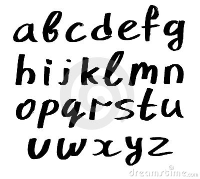 Handwritten alphabet - small