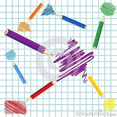 Handwritten geometric figures
