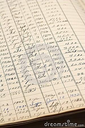 Handwritten Ledger