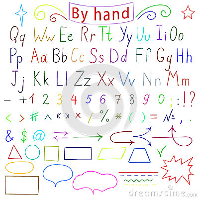 Handwritten English Alphabet. Vector Illustration Stock Vector ...