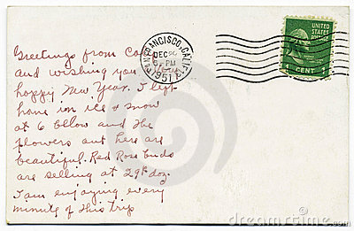 Handwritten Postcard from San Francisco