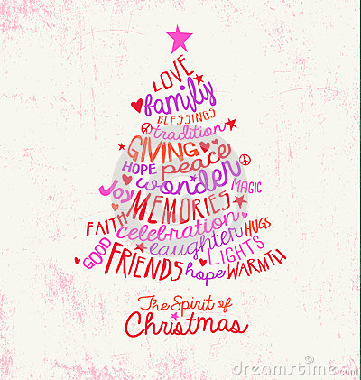 Christmas Card Word Cloud Tree Design Vector Image 46279396 – Words for Christmas Card