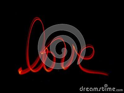 Handwritten word  LOVE