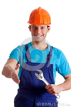 Free Handy Man Welcoming Royalty Free Stock Photography - 36478837