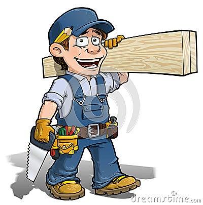 Free Handyman - Carpenter Blue Stock Photography - 31342922