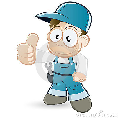 Handyman cartoon character