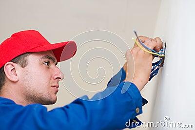 Handyman in duty