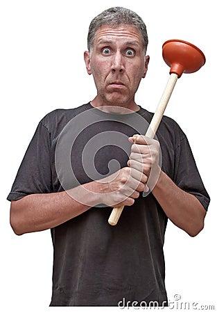 Handyman Home Repair Plumber Fix House Leak Humor