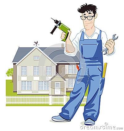 Handyman illustration