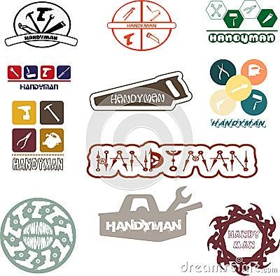 Free Handyman Logo For Fun And Pleasure Royalty Free Stock Photo - 83592295
