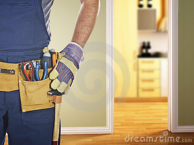 Handyman ready for work