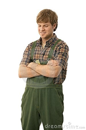 Handyman standing arms crossed