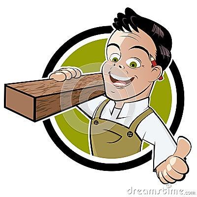 Handyman with thumb up