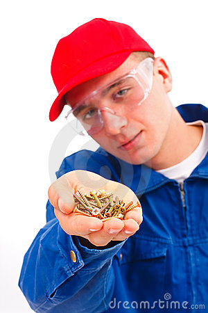 Free Handyman With Screwes Stock Images - 17283264