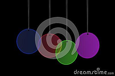 Hang Glass Tags Decoration