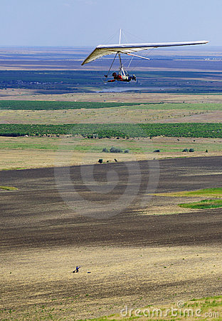 Hang-glider flight