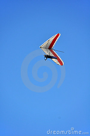 Hang Glider - Red and White