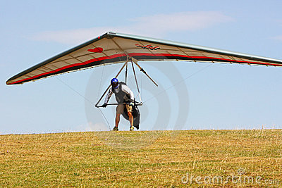 Hang gliding competitions in Italy Editorial Photo