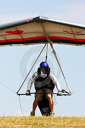 Hang gliding competitions in Italy Editorial Stock Image