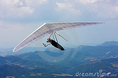 Hang gliding competitions in Italy Editorial Stock Photo