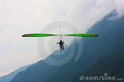 Hang gliding competitions  over Kobala mountain Editorial Image