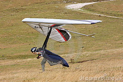 Hang gliding in Monte Cucco Editorial Stock Image